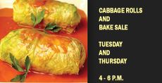 Cabbage Rolls and Bake Sale